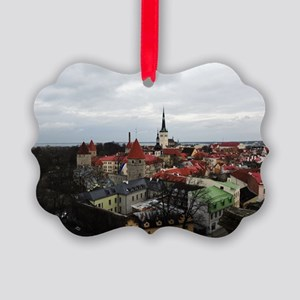 On Top of Tallinn Picture Ornament