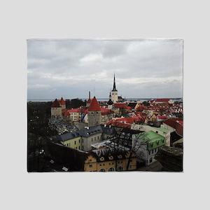On Top of Tallinn Throw Blanket