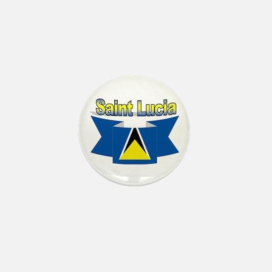 St Lucia Ribbon Mini Button
