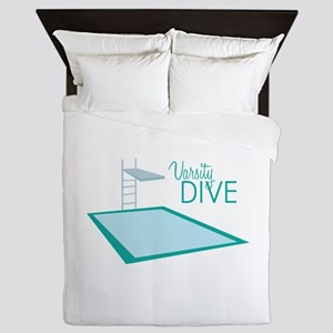 Varsity Dive Queen Duvet