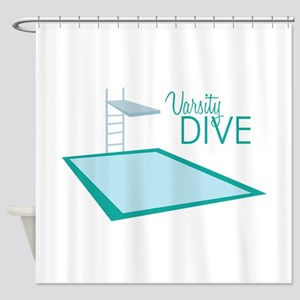 Varsity Dive Shower Curtain