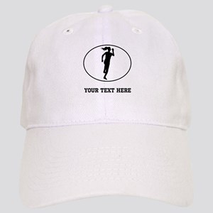 Runner Silhouette Oval (Custom) Baseball Cap