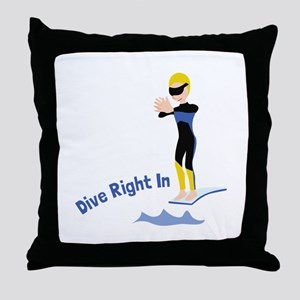 Dive Right In Throw Pillow