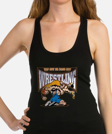 Tap Out or Pass Out Wrestling Racerback Tank Top