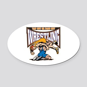 Tap Out or Pass Out Wrestling Oval Car Magnet