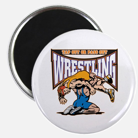 Tap Out or Pass Out Wrestling Magnet