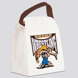 Tap Out or Pass Out Wrestling Canvas Lunch Bag