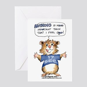 Cartoon Hamster Greeting Card