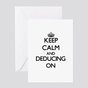 Keep Calm and Deducing ON Greeting Cards