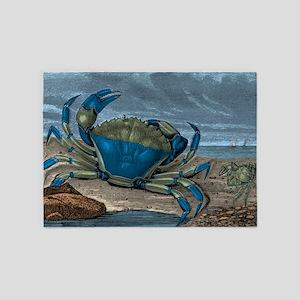 Blue Crabs 5'x7'Area Rug
