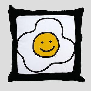 Happy Egg Throw Pillow
