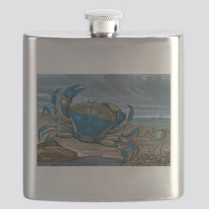 Blue Crabs Flask