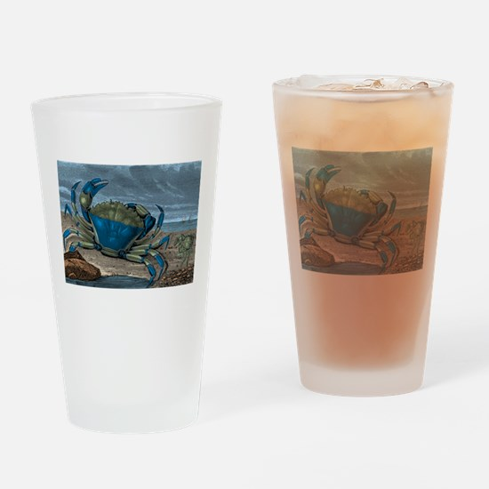 Blue Crabs Drinking Glass