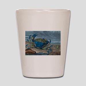 Blue Crabs Shot Glass