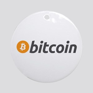 Bitcoin logo Ornament (Round)