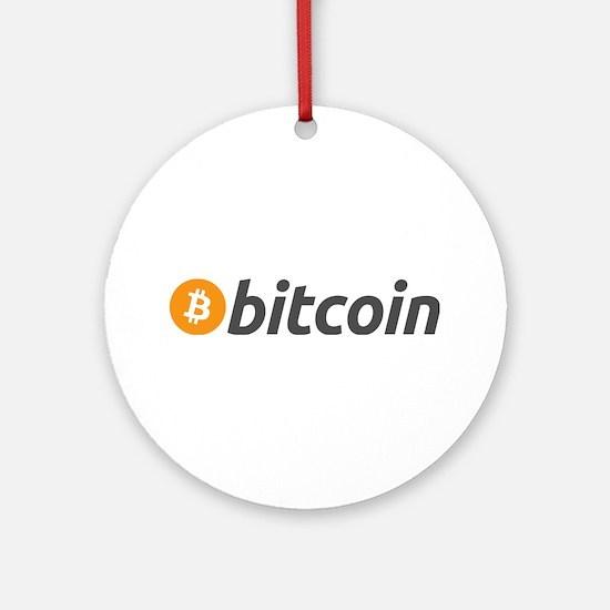 Bitcoin logo Ornament (Round)