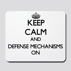 Keep Calm and Defense Mechanisms ON Mousepad
