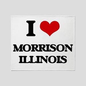 I love Morrison Illinois Throw Blanket