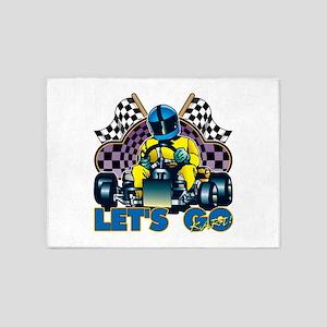 Let's Go Kart! 5'x7'Area Rug