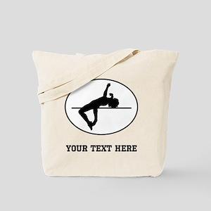 High Jump Silhouette Oval (Custom) Tote Bag