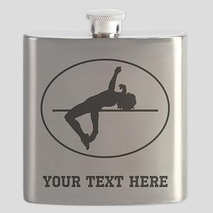 High Jump Silhouette Oval (Custom) Flask