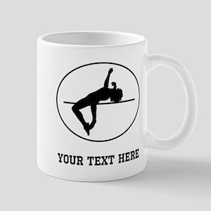 High Jump Silhouette Oval (Custom) Mugs
