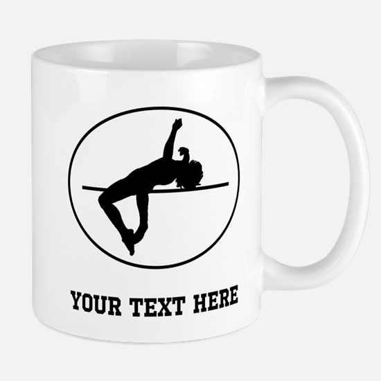 High Jump Silhouette Oval (Custom) Mugs