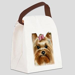 Puppy_Yorkie Canvas Lunch Bag