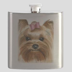 Puppy_Yorkie Flask