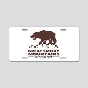 Great Smoky Mountains Aluminum License Plate