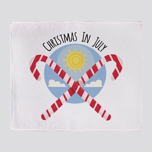 Christmas in July Throw Blanket