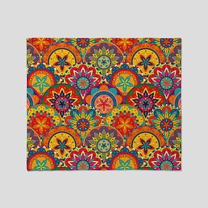 Funky Retro Pattern Throw Blanket