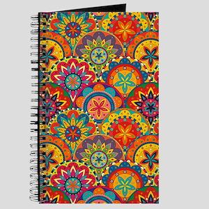 Funky Retro Pattern Journal