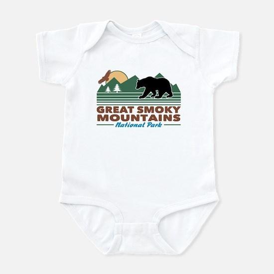 Great Smoky Mountains Baby Light Bodysuit