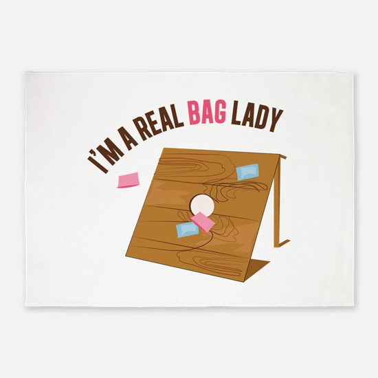 Real Bag Lady 5'x7'Area Rug