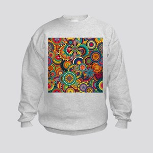 Funky Retro Pattern Kids Sweatshirt