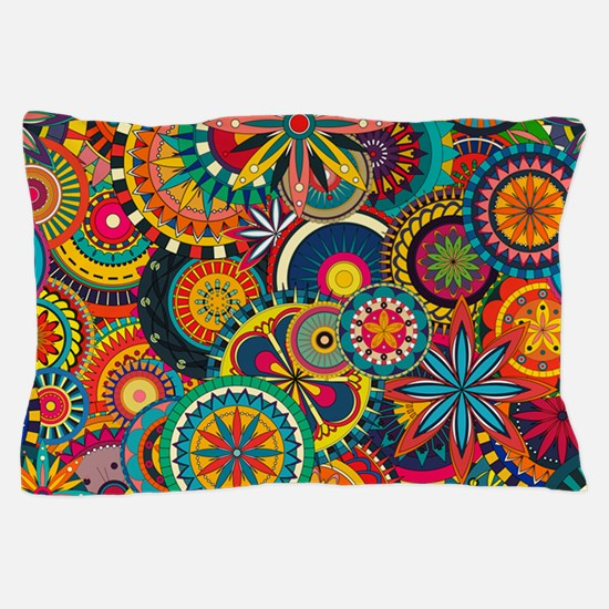 Funky Retro Pattern Pillow Case
