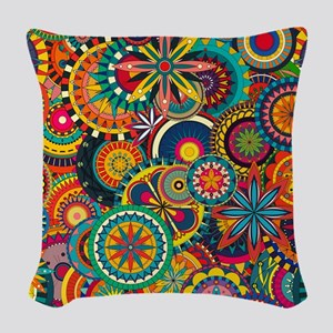 Funky Retro Pattern Woven Throw Pillow