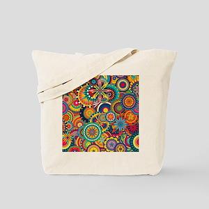 Funky Retro Pattern Tote Bag