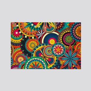 Funky Retro Pattern Magnets