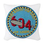 USS HADDO Woven Throw Pillow
