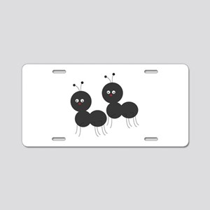 Two Ants Aluminum License Plate