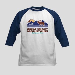 Great Smoky Mountains Kids Baseball Tee