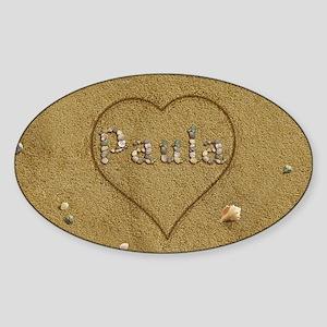 Paula Beach Love Sticker (Oval)