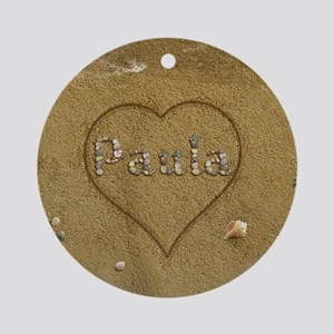 Paula Beach Love Ornament (Round)