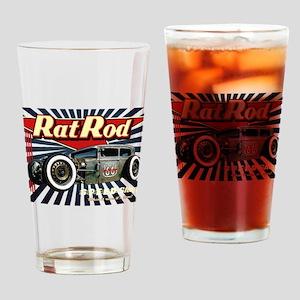 Rat Rod Speed Shop 2 Drinking Glass