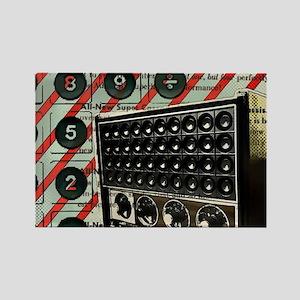 geeky retro radio Magnets