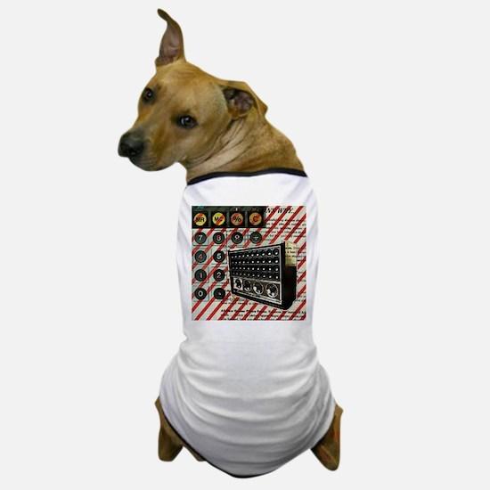 geeky retro radio Dog T-Shirt
