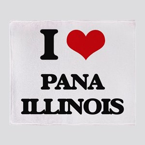 I love Pana Illinois Throw Blanket