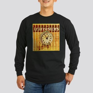 vintage scripts retro clock Long Sleeve T-Shirt